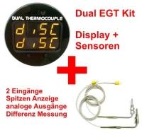Dual EGT Anzeige inklusive 2 Sensoren