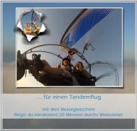 Motorschirm Tandemgutschein für 0,5 Stunden Sonnenaufgangsflug