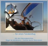 Motorschirm Tandemgutschein für 1 Stunde Sonnenaufgangsflug