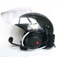 Paramotor Helm 4000 aus CARBON mit Headset mit Bluetooth und Funk
